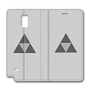 Note 4 Case, Fashion PU Leather Galaxy Note 4 Case [Flip Cover] with Foldable Stand Triforce The Legend Of Zelda Protective Case Cover for Samsung Galaxy Note 4 by runtopwell