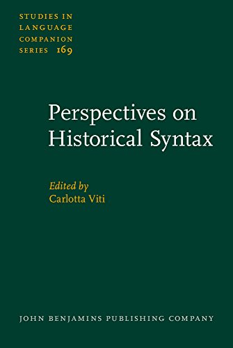 Perspectives on Historical Syntax (Studies in Language Companion Series)