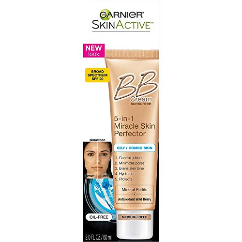 Garnier Miracle Skin Perfector, B.B. Cream, Medium/Deep, 2 oz (Pack of 3)