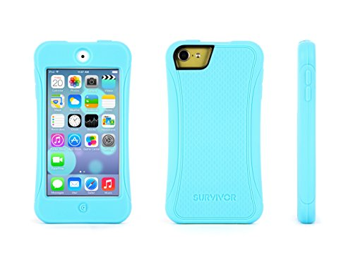 Griffin Survivor Slim iPod touch (5th/ 6th gen.) Case - Ultra-Protective and Impact-Resistant, Turquoise