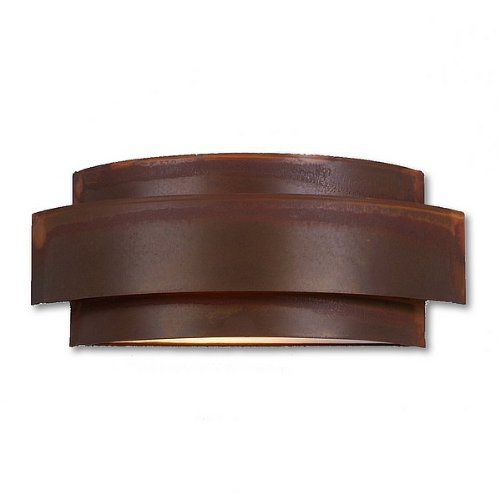 Avalanche Ranch Lighting A16201-02 Northridge Double Sconce (Rustic Plain), Indoor Wall Sconce, Rust Patina Finish ()