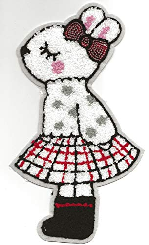 Bunny Rabbit Patch Iron On, Applique, Patch,Sequins Patch Supplies for Coat,T-Shirt,Costume Decorative Panda Bear]()