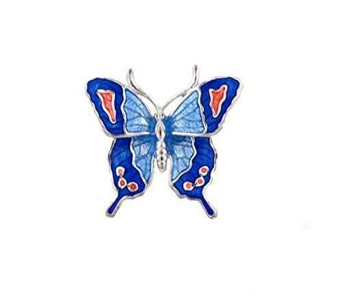 Butterfly Lapel (Enameled Butterfly Brooch)