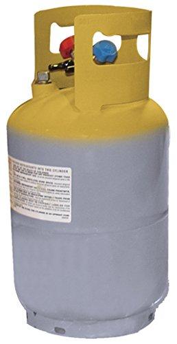 Mastercool (62010) Gray/Yellow Refrigerant Recovery Tank - 30 - Refrigerant Gas Cylinder