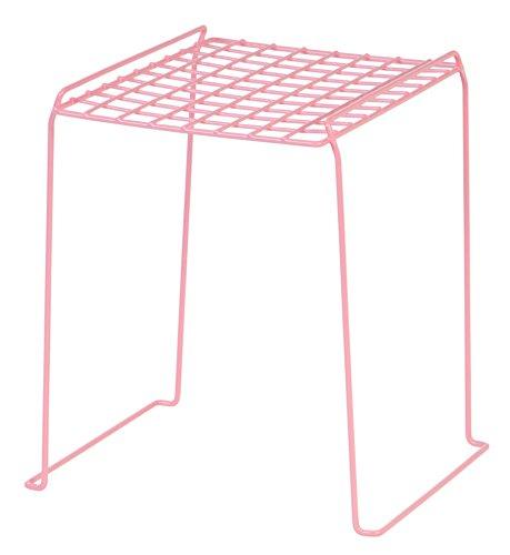 IRIS 12-inch Stackable Wire Locker Shelf, 4-pack, Pink