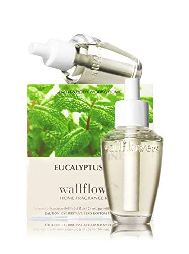 Bath & Body Works Wallflowers Home Fragrance Refill Bulbs 2 Pack Eucalyptus Mint by Bath & Body Works