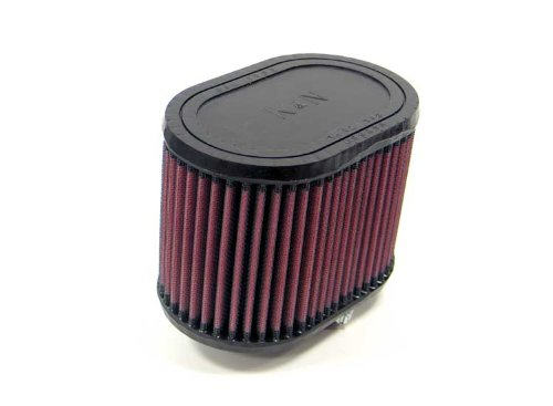 K&N RU-1320 Universal Clamp-On Air Filter: Oval Straight; 2.25 in (57 mm) Flange ID; 4.5 in (114 mm) Height; 6.25 in x 4 in (159 mm x 102 mm) Base; 6.25 in x 4 in (159 mm x 102 mm) Top K&N Engineering