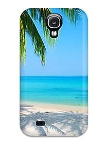 Flexible Tpu Back Case Cover For Galaxy S4 - Beach