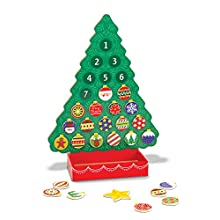 Melissa & Doug Countdown to Christmas Wooden Advent Calendar (Seasonal & Religious, Magnetic Tree, 25 Magnets, Great Gift for Girls and Boys - Best for 3, 4, 5, 6 and 7 Year Olds)