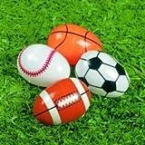 Sports Ball Plastic Easter Eggs - Set of 8