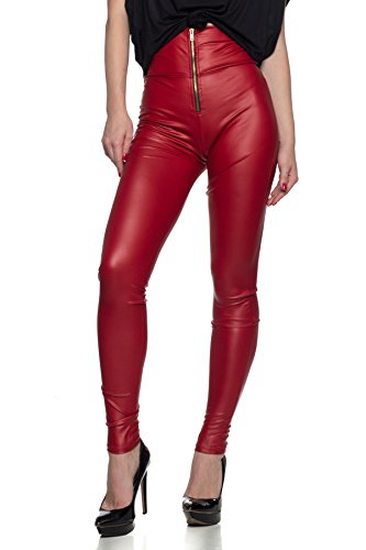 Red Leather Pants - 2