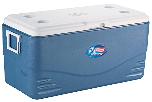 Coleman Cool Box Xtreme 100QT, large high performance cooler box, Ice box for drinks, Camping, Picnic, cool box holds 91 Liters (35x1.5L bottles), use with ice packs