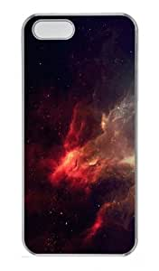 covers wholesale space red nebulae PC Transparent Case for iphone 5/5S