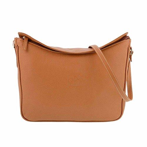 Paula Alonso - Sac en cuir façon gondole avec sac à bandoulière en châtaignier