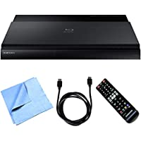 Samsung BD-J7500 - Smart Blu-ray Player with 4K Up-scale WiFi 3D Bundle includes Blu-ray Player, HDMI Cable and Microfiber Cleaning Cloth