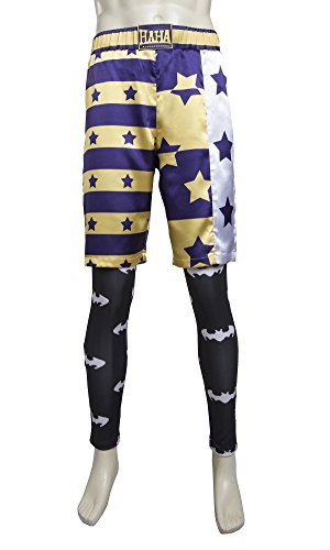 MZK Men's Cloth of Joker Suicide Squad Cosplay Halloween Costume (M, trousers) (Harley Quinn Arkham City Halloween Costume)