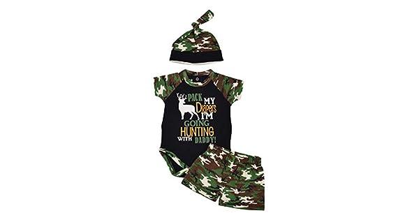 Amazon.com: Único bebé niños ir a cazar con papá primer día ...