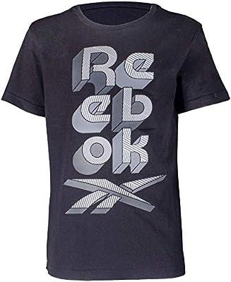 Reebok Camiseta Big Scrabble, Niños, Black, S: Amazon.es: Deportes y aire libre