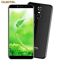 OUKITEL C8 - 5.5 pouces (18: 9 ratio pleine vision) Android 7,0 smartphone , batterie 3000mAh, MTK6737 1.3GHz Quad Core 2 Go RAM 16 Go ROM, caméra 5MP + 13 MP, empreinte digitale