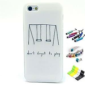 GDW Funda Trasera - Gráficas/Dibujos/Diseño Especial - para iPhone 5/iPhone 5S ( Multicolor , TPU )