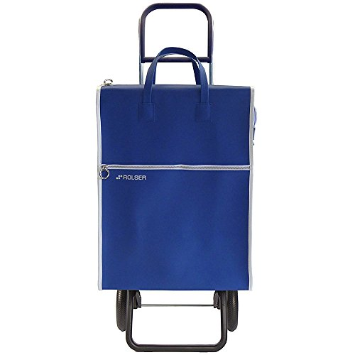 Rolser LID001B Einkaufsroller, RG/Lider, 40 L, Kunstleder, blau, 38 x 30 x 101 cm