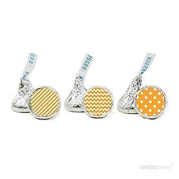 Andaz Press Chocolate Drop Labels Trio, Fits Hersheys Kisses, Patterns, Polka Dots, Striped,...