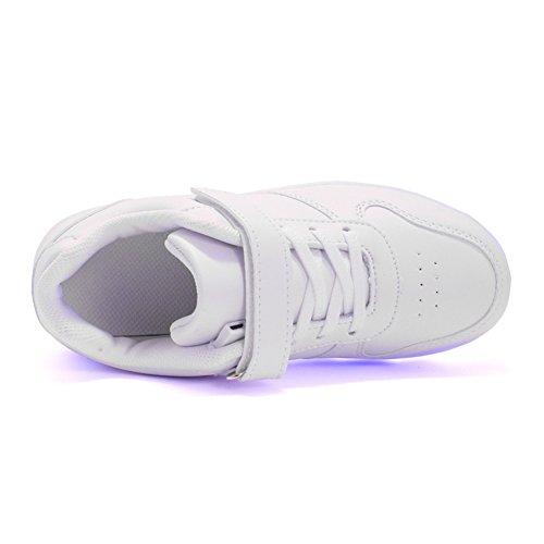 Chaussures Clignotant Blanc Sport De 7 Rechargeable Sneakers Gymnastique Et Baskets Ultra Usb Respirante Pour uk Enfants Changement Couleur Ansel léger Led Chaussure Fille Garçon qXAtw7