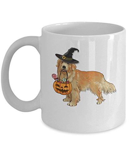 Kiwi Styles Golden Retriever Coffee Mug - Halloween