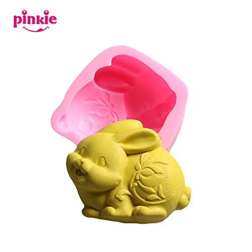Pinkie Tm Pinkie Silicone mold easter bunny 3D mode zodiac rabbit decoration soap annimal silicone moulds forms for soap