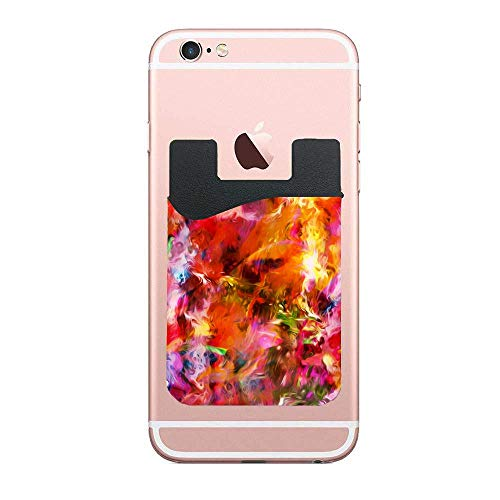 Cellcardphone Abstract Acryl Art(1) Phone Credit Card Holder, Wallet Compatible with Apple iPhone Cell Phone Table Multi Colors 2 - Acryl Rose Red