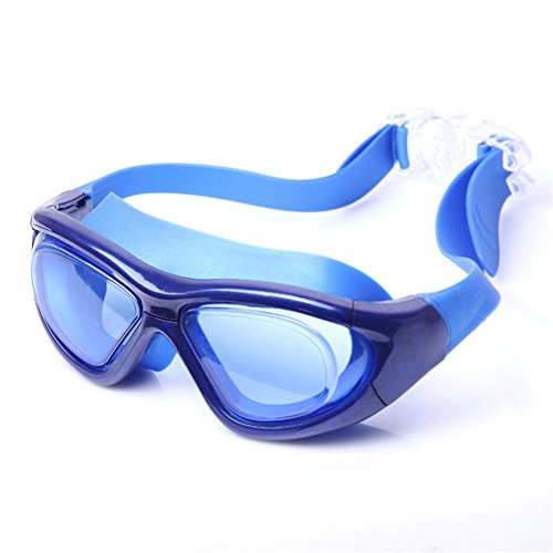 Z-P Adult Swimming Goggles Shield Anti-Fog UV Protection HD Blue