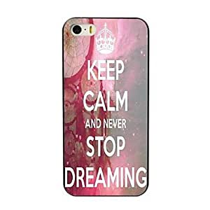 SHOUJIKE Keep Calm and Never Stop Dreaming Design Hard Case for iPhone 4/4S