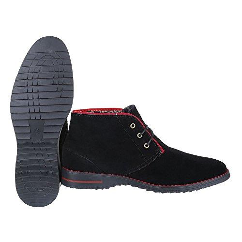 Ital-Design Stiefeletten Herren Schuhe Desert Boots Moderne Schnürsenkel  Boots Schwarz ... 737fa824e6