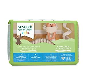 Seventh Generation Training Pants, Size 4T/5T, 17 Count (Pack of 4)