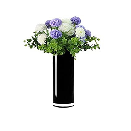 Amazon Cys Excel Hand Blown Black Glass Cylinder Vase Flower