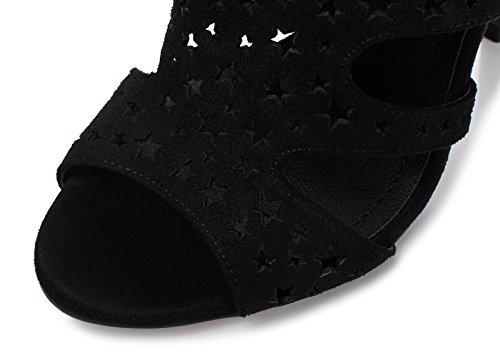 Lizform Donne Pentagramma Open Toe Sera Tacchi Alti Stelle Ritaglio Vestito Sandalo Sandalo Slip Pump Shoes Black2