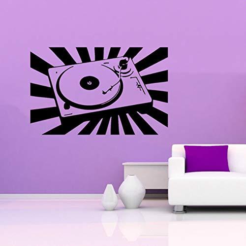 Pbldb Vinyl Wall Decal Sticker Room Music Dj Mixer Stereo Sound Trance EDM Cool 63X40Cm -