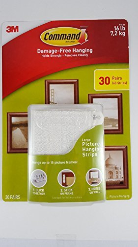 Command Damage Free Picture and Frame Hanging, Large Strips (30 ()