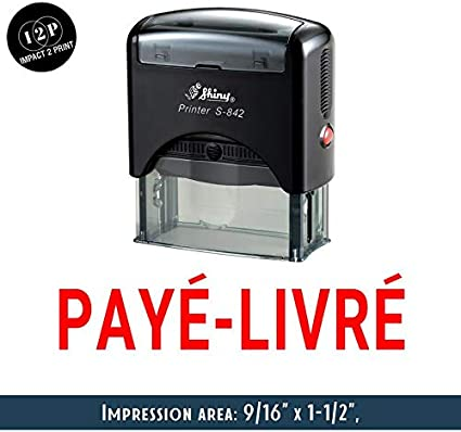 eloria Attached File Self Inking Rubber Stamp-Shiny S-842-Blue Ink