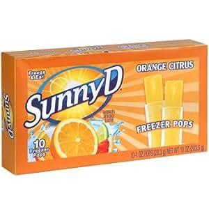 Sunny D Orange Citrus Freezer Pops 2 Pack