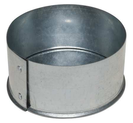 Galvanized Steel Reducer, 14'' x 12'' Duct Fitting Diameter, 6'' Duct Fitting Length