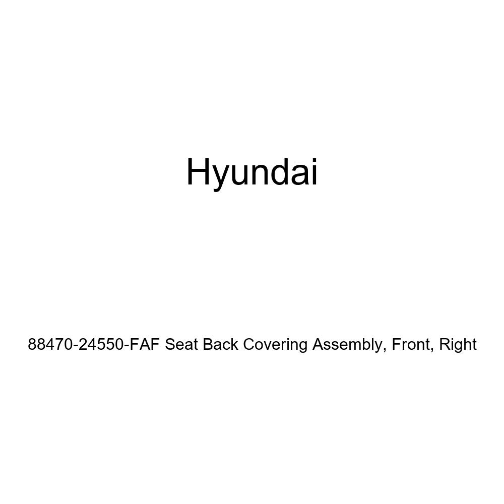 Right Genuine Hyundai 88470-24550-FAF Seat Back Covering Assembly Front