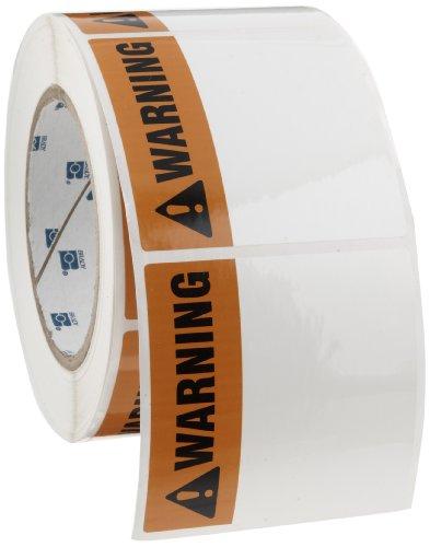 Brady THTEL-184-483-1-WA 3'' Width x 3'' Height, B-483 Polyester, Orange with Black on White Warning Arc Flash Label (1000 per Roll) by Brady