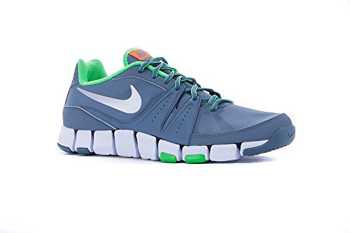 Nike Flex Show TR 3, Scarpe Sportive, Uomo Grigio / Verde (Bl Grpht / Mtllc Slvr-psn Grn-tt)
