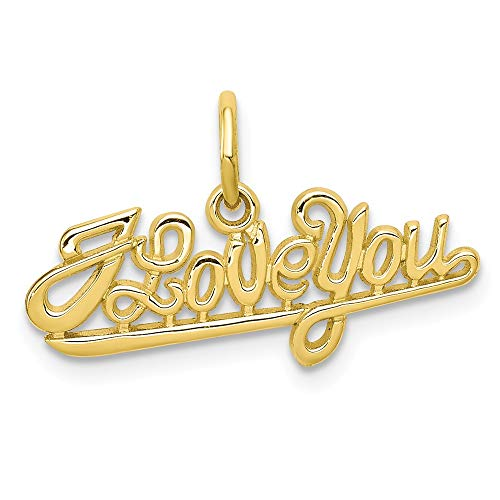 10k Yellow Gold I Love You Pendant Charm Necklace Talking S/love Message Fine Jewelry Gifts For Women For Her