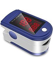 JUMPER Finger Pulsossimetro Meter Pulse Portable - SpO2 (Saturazione di Ossigeno nel Sangue) e Monitor di Frequenza Cardiaca - Con Display Digitale LED, CE & Approvato Dalla FDA