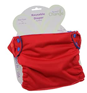 SproutChange 3 Piece Organic Cloth Diaper Starter Kit, Cherry Berry