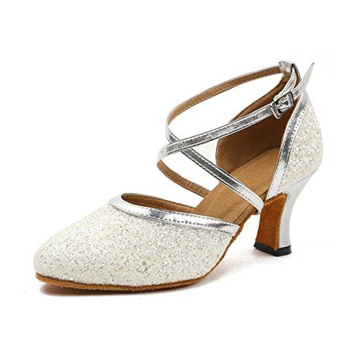 KeKe Shoes - Zapatillas de danza para mujer M057White