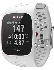 ساعة بولار M430 جي بي اس الرياضية لتتبع انشطة الركض+ مراقب نبضات القلب من خلال المعصم - ابيض