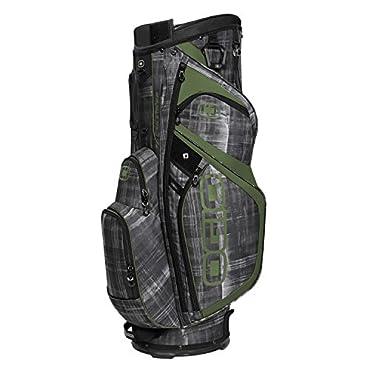 OGIO 9.5 16-Way Woode Top Silencer Golf Cart Bag, Paranormal Moss (124050-SIPM)
